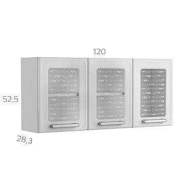 Alacena Superior Gourmet 120 cm Blanco 7009650