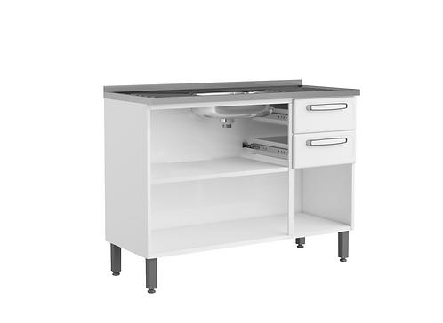 Mueble  Inferior de Cocina Con Lavaplatos 120 Cm Gourmet Blanco 7025650PEX