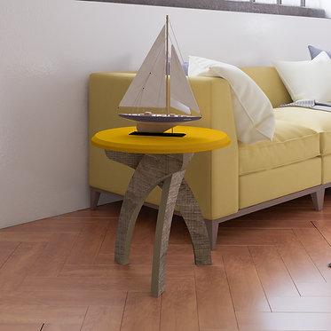 Mesa de Apoyo Lateral Jade Bertolini Amarillo con Canela 3677