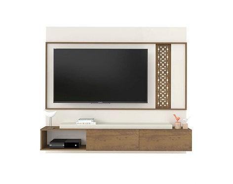 Mueble para TV tipo Panel Pantalla Hasta  Bertolini Pino con Blanco 4024