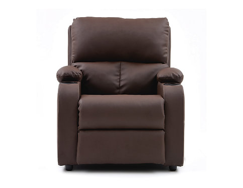 Silla Reclinable Rest Relax Home Chocolate Cuero Sintético