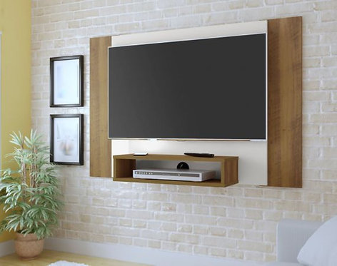 Mueble para TV tipo Panel 3980 Pantalla Hasta 42 Bertolini Pino con Blanco 3980