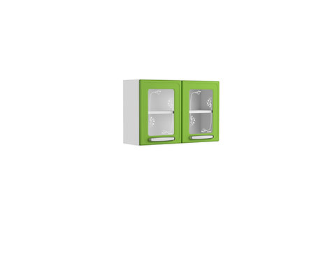 Mueble Superior de Cocina Con Vidrio 80 Cm Evidence Plus Verde 7006674