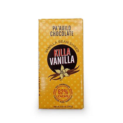 Chocolate Bar, Killa Vanilla 62% Dark - 100g