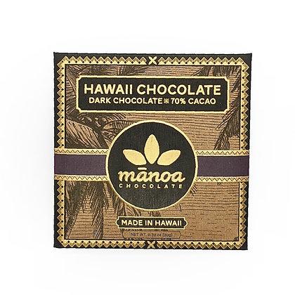 Chocolate Bar, 70% Dark (Manoa Chocolate) - 20 g