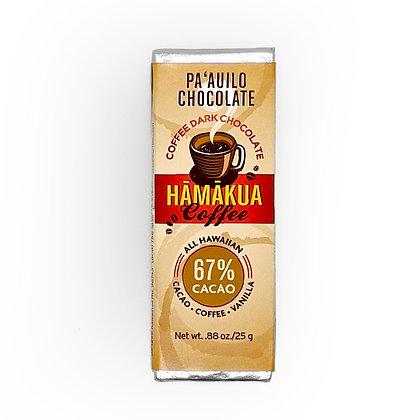 Chocolate Bar, Hamakau Coffee 67% Dark (Pa`auilo Chocolate)