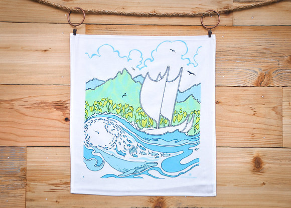 "Tea Towel, Cotton ""Moana"" (Cultivate Hawaii)"