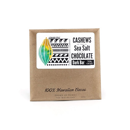 Chocolate Bar, Cashew & Sea Salt (Puna Chocolate Co.)