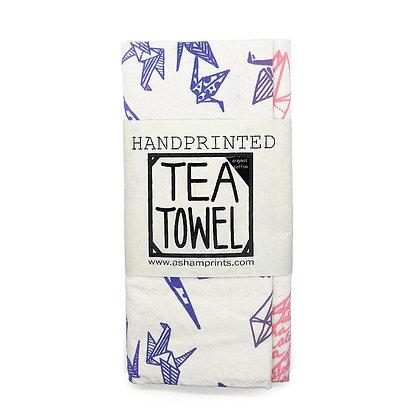 "Tea Towel, Cotton ""Paper Crane"" (A. Sham)"