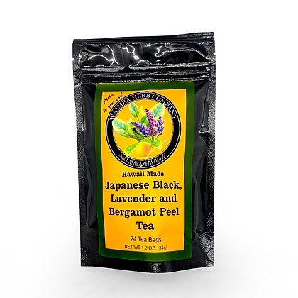 Tea, Japanese Black, Lavender & Bergamot Peel