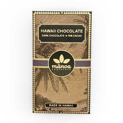 Chocolate Bar, 70% Dark (Manoa Chocolate) - 50 g