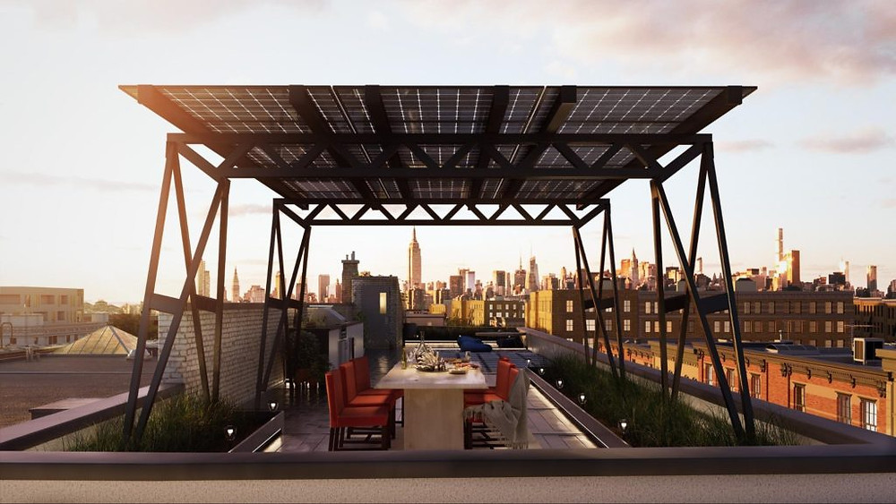 Solar Canopy from Brooklyn Solar Works. Photo from BrooklynSolarWorks.com