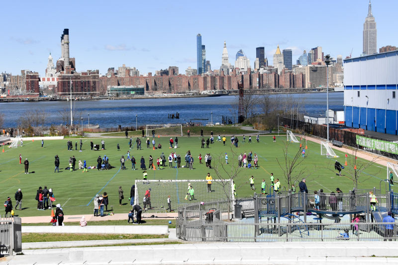 Picture of Bushwick Inlet Park from NYC Parks website.