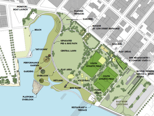 Hopefully, there will be something for everyone at Bushwick Inlet Park. Photo from Friends of Bushwick Inlet Park's website.