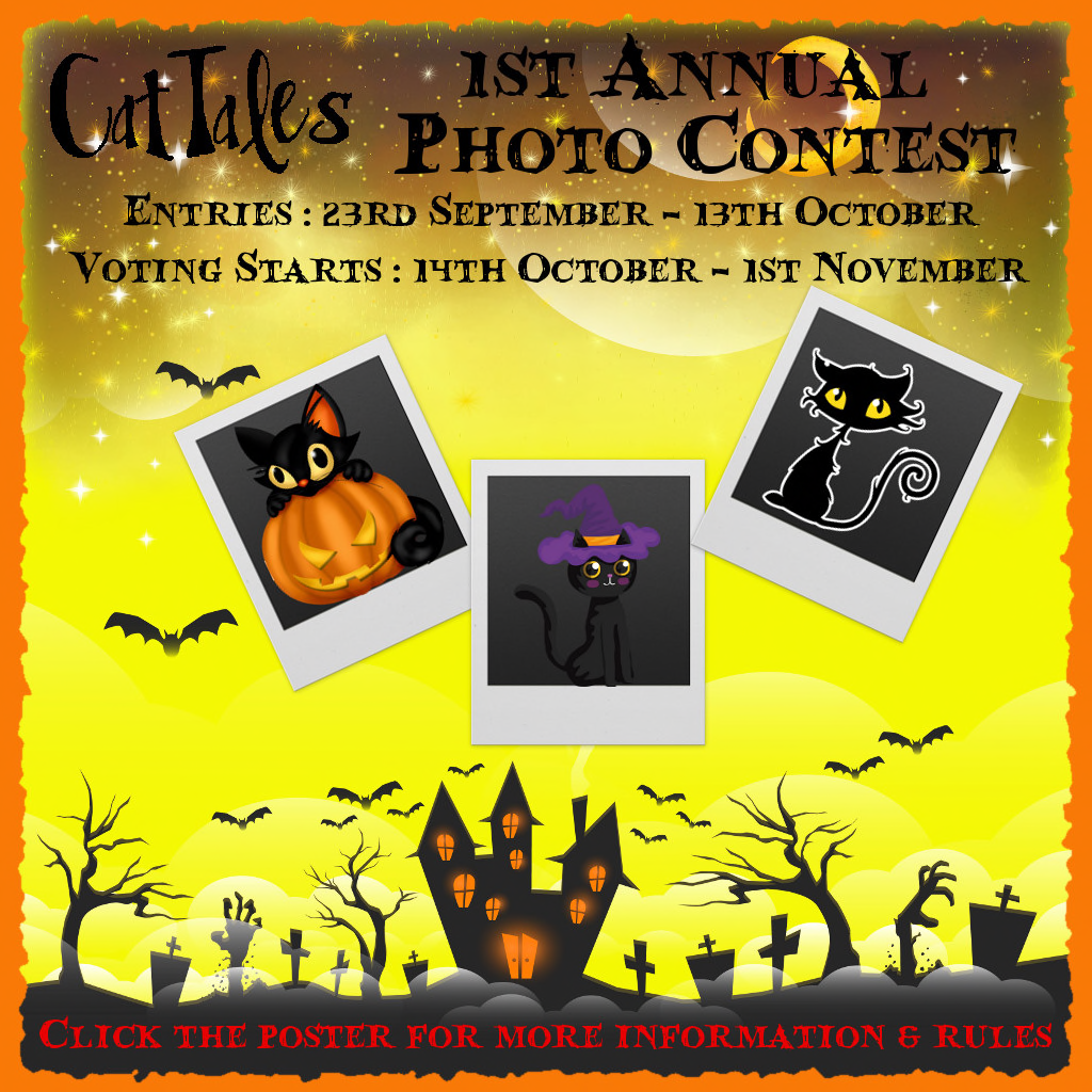 [Image: CatTales%20Halloween%20Photo%20Contest%20Poster.png]