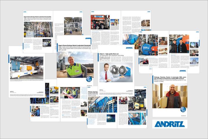 ANDRITZ AG Grafik Drucksorten