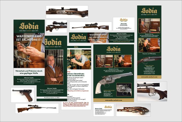 SODIA Büchsenmacher Produktfotografie,  Grafik diverse Drucksorten