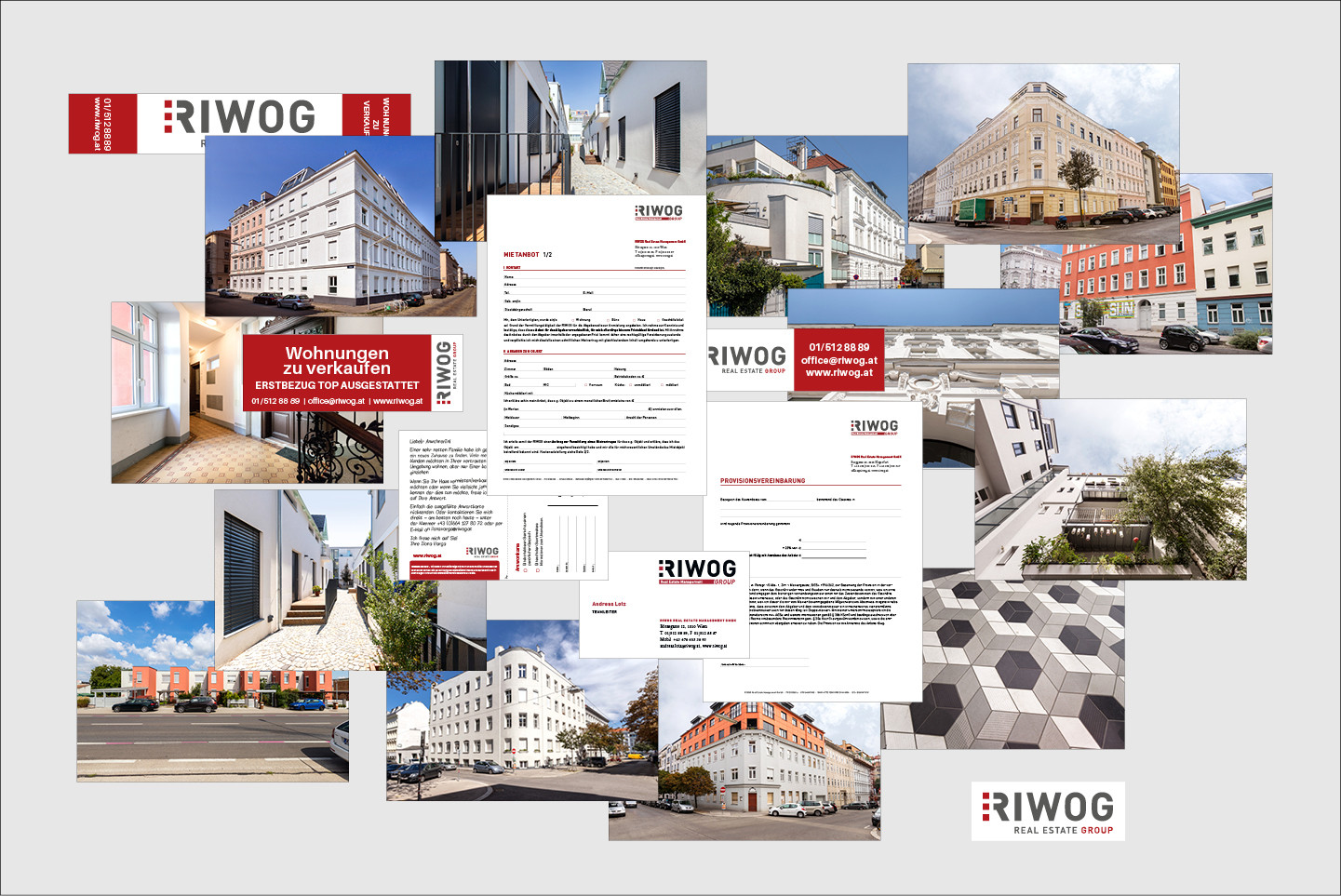 RIWOG Real Estate Management GmbH Immobilienfotografie,  Grafik diverse Drucksorten