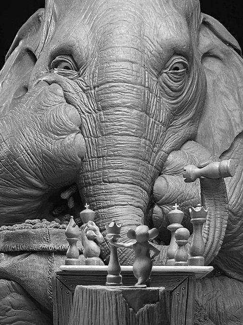 """""""Checkmate"""" Sculpture - Ray Villafane Original"""
