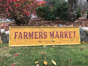 Farmers Market sign-I was asked to make a more generic sign for a local Home furnishings store to try and sell. I prefer selling directly to customers so I can customize it but this was a fun one to try!