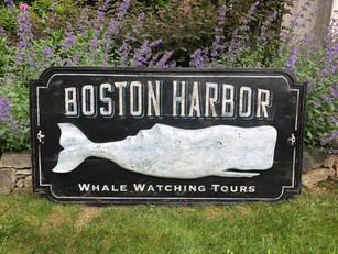 Boston Harbor sign