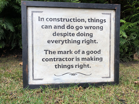 Contractor's sign