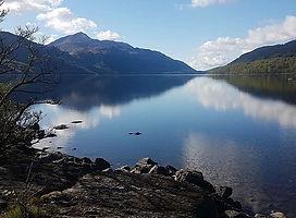 The sun shining bright on Loch Lomond -