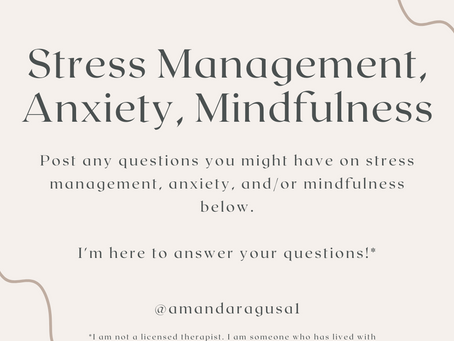 Stress Management and Mindfulness: How Can I Help You Level Up?