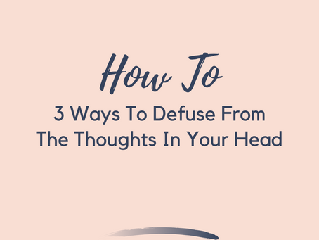 3 Ways To Separate From Your Negative Thoughts