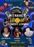NITARAE'S COMEDY LOUNGE GOES VIRTUAL