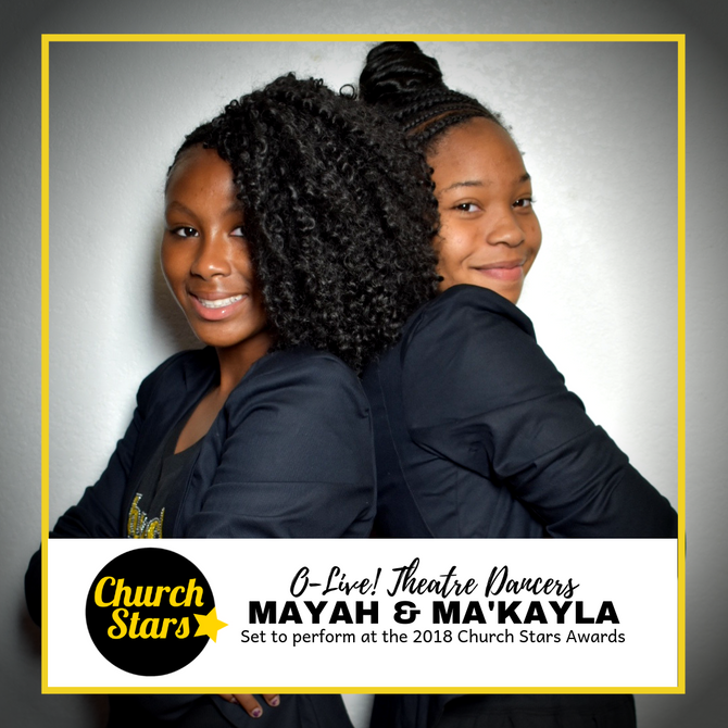 MAYAH & MA'KAYLA SET TO PERFORM AT THE CHURCH STARS AWARDS