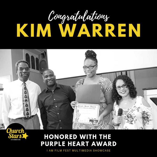 PURPLE HEART AWARD PRESENTED TO KIM WARREN