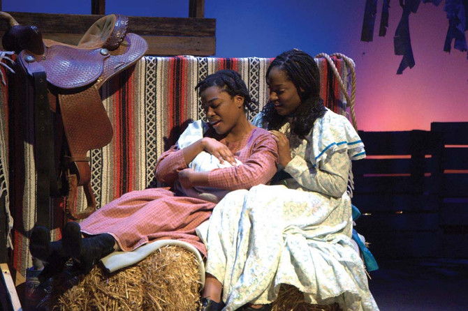 LATOYA GARDNER BEST KNOWN FOR HER ROLE AS CELIE IN THE COLOR PURPLE TALKS WITH CHURCH STARS