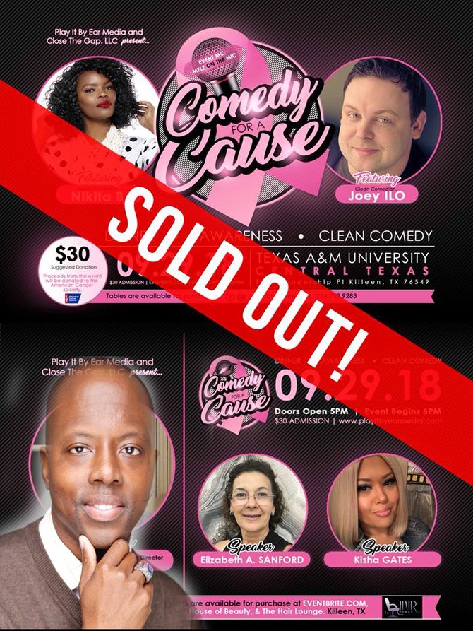 SOLD OUT SHOW FOR COMEDY WITH A CAUSE