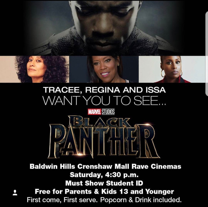 SEE BLACK PANTHER FOR FREE - CRENSHAW MALL RAVE CINEMA