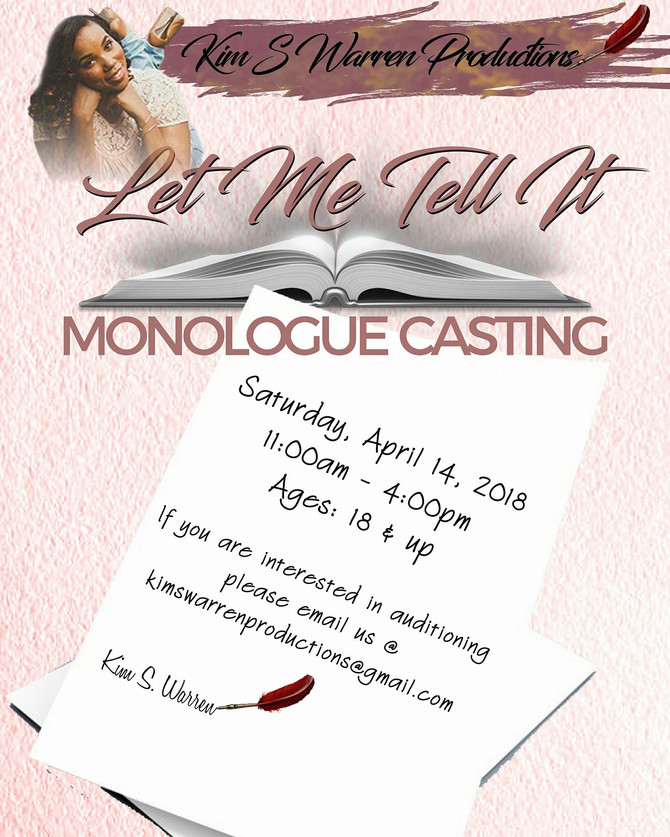 NEW JERSEY MONOLOGUE CASTING