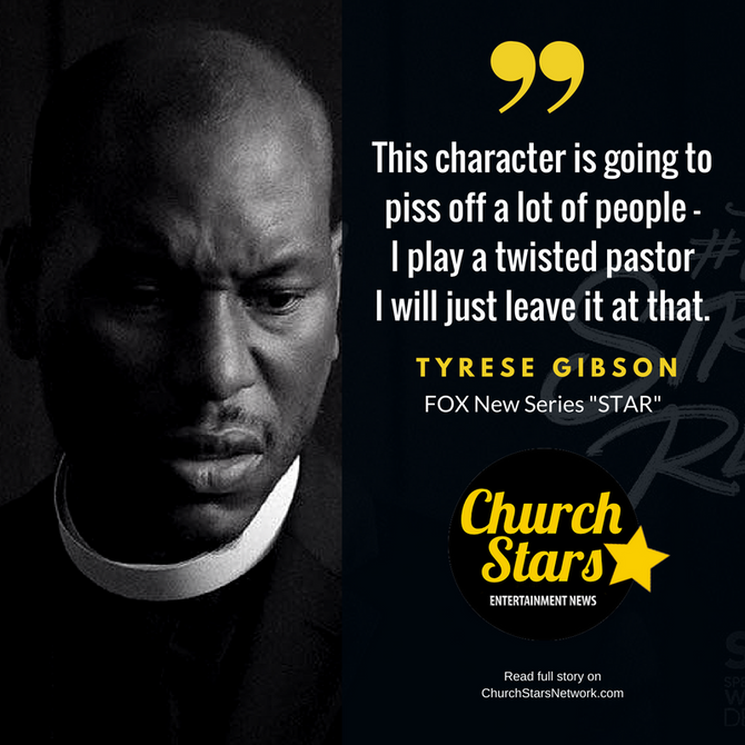 TYRESE GIBSON PREPARES FANS FOR CONTROVERSIAL ROLE