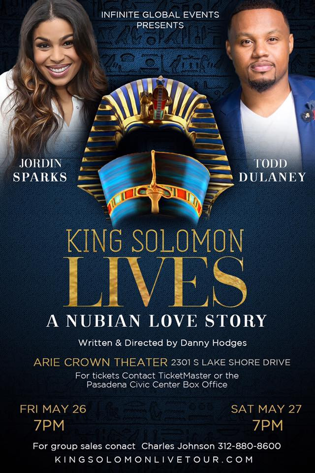 JORDIN SPARKS & TODD DULANEY KING SOLOMON LIVES TOUR