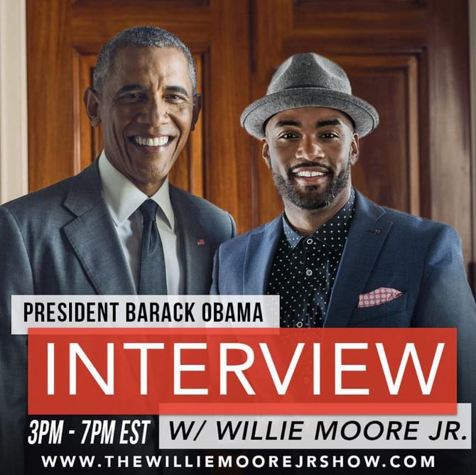 WILLIE MOORE JR. INTERVIEWS PRESIDENT BARRACK OBAMA
