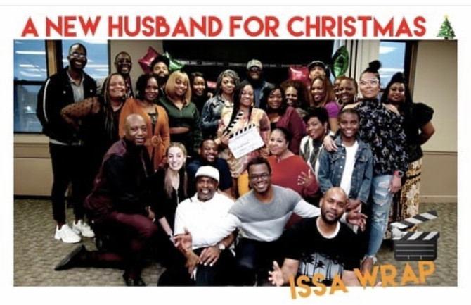 A NEW HUSBAND FOR CHRISTMAS WRAPS UP PRODUCTION
