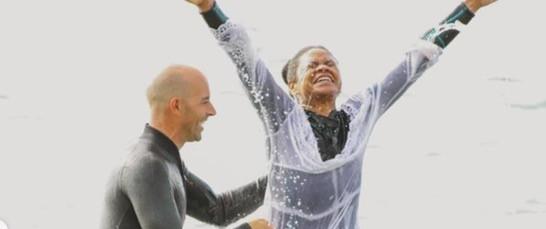 HOLLYWOOD ACTRESS KIMBERLY ELISE CELEBRATES HER BIRTHDAY WITH BAPTISM