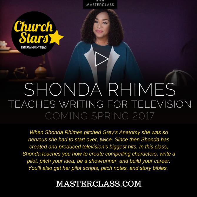 SHONDA RHIMES TEACHES WRITING FOR TELEVISION