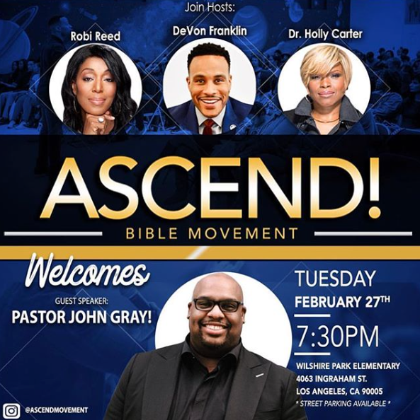 ASCEND BIBLE MOVEMENT WELCOMES PASTOR JOHN GRAY