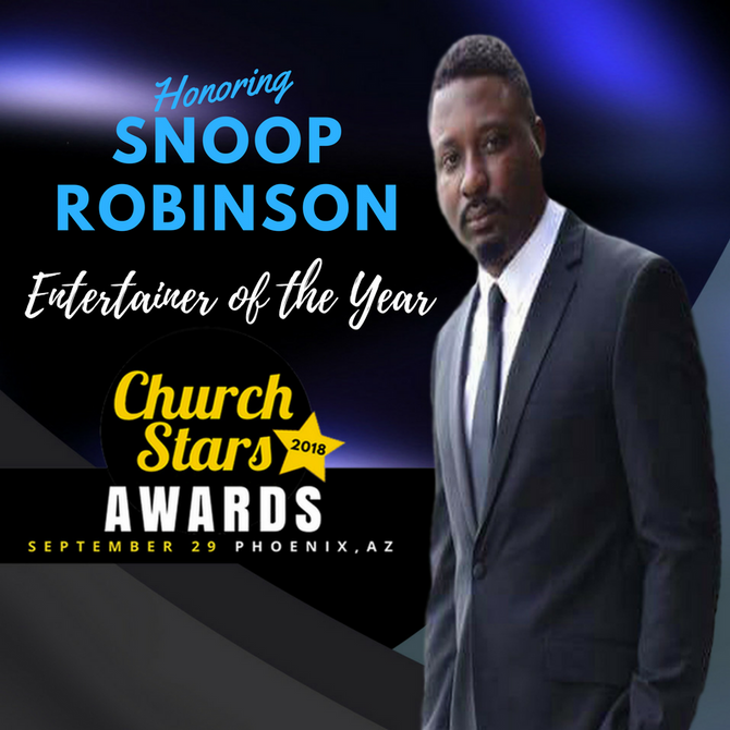 SNOOP ROBINSON TO BE HONORED WITH ENTERTAINER OF YEAR AWARD