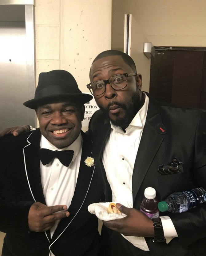 CHRISTIAN COMIC AKINTUNDE AND COMEDIAN RODNEY PERRY