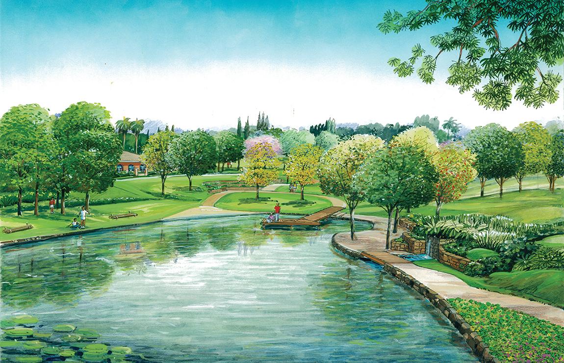 Lago para contemplar e relaxar