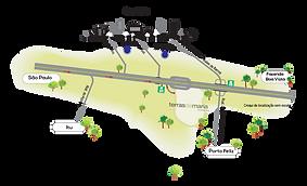 Mapa de acesso loteamentos Sorocaba