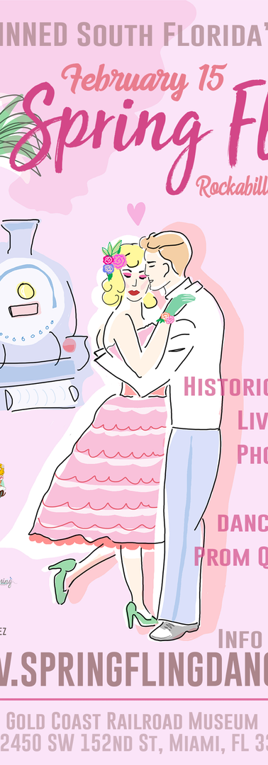 Flyer For Rockabilly Prom