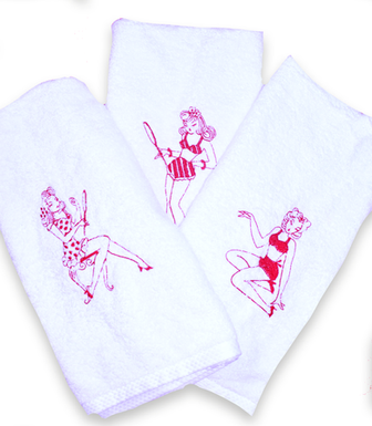 Pinup Hand Towels *Customizable*