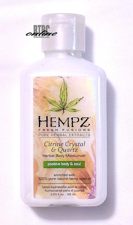 Citrine Crystal & Quartz Herbal Body Moisturizer * 2.25oz